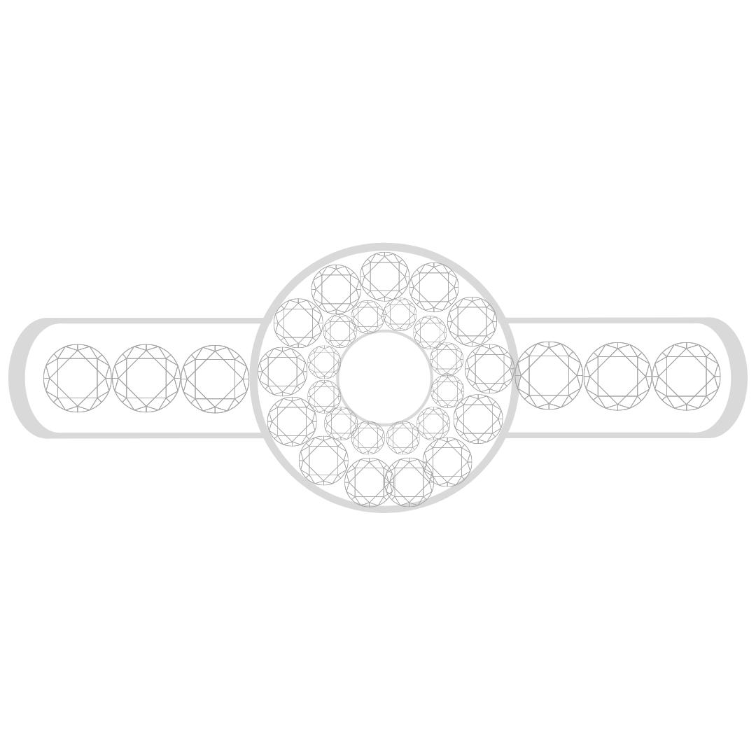 Halo- Diamond Shoulders